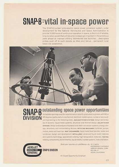 Aerojet General SNAP-8 Nuclear Space Power Sys (1963)