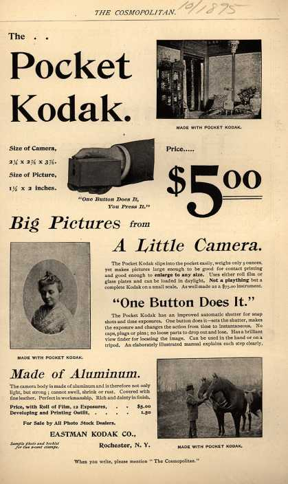 Kodak – The Pocket Kodak (1895)