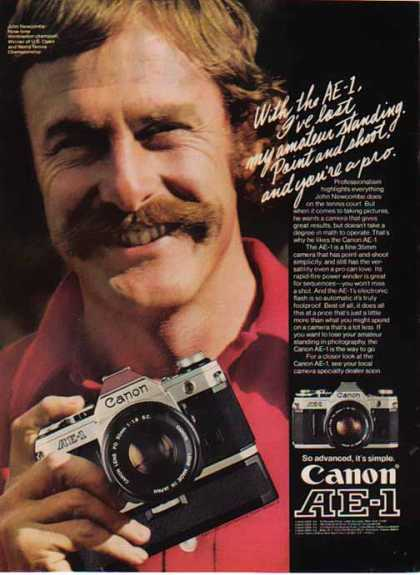 Canon AE1 – - Tennis player John Newcombe (1977)
