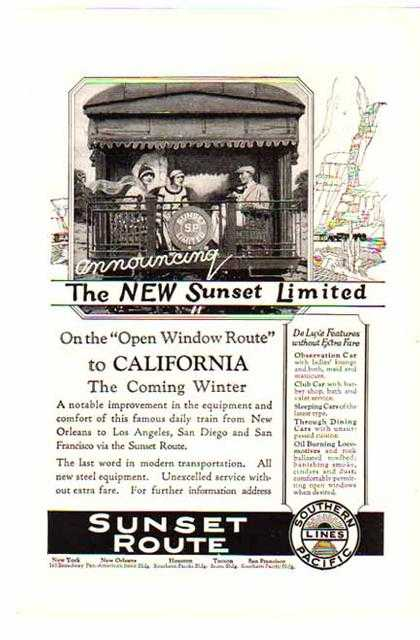 Southern Lines Railroad – The New Sunset Limited (1924)