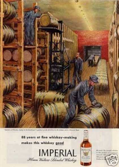Imperial Whiskey Ad Howard Baer Art (1946)