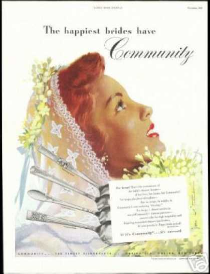 Pretty Bride Jon Whitcomb Community Oneida (1948)