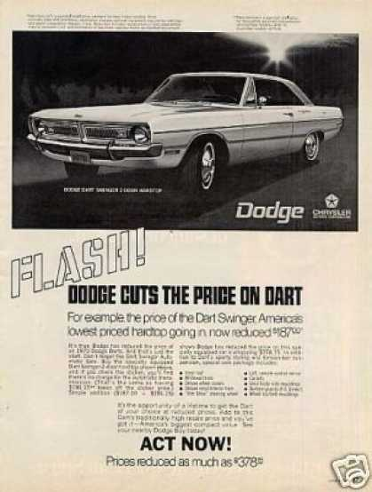 Dodge Dart Swinger 2-door Hardtop Car (1970)
