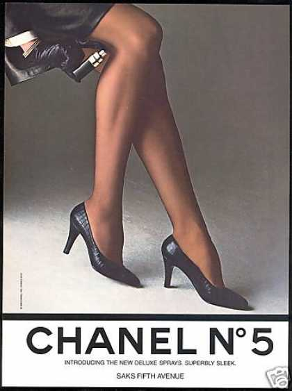 Chanel No 5 Spray Perfume Legs Photo (1985)