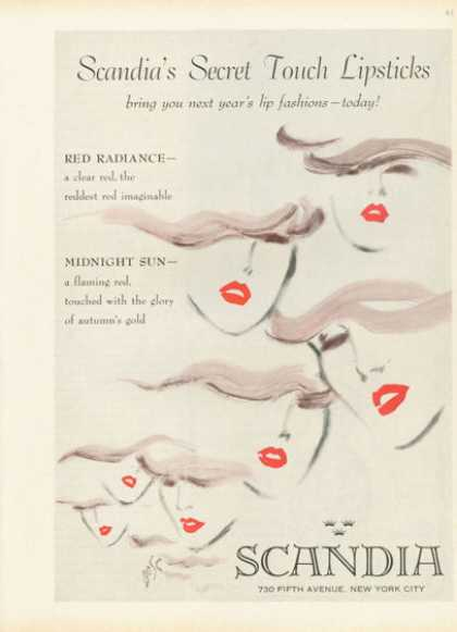 Scandia Red Lipstick Fashion Bose Art Photo (1959)