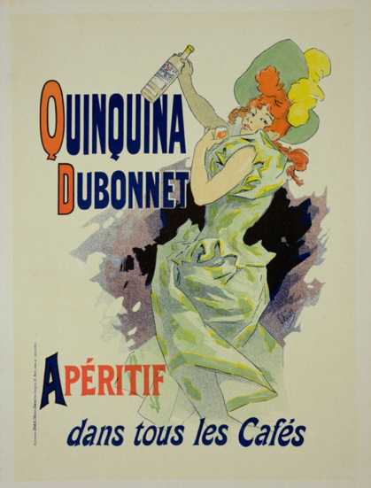 "Reprodution of a Poster Advertising ""Quinquina Dubonnet,"" (1895)"