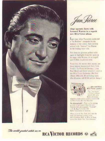 RCA Victor Records – Jan Peerce Sings Operatic Duets (1947)