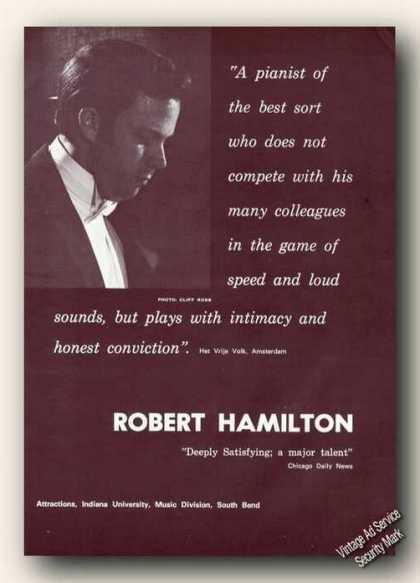Robert Hamilton Photo Piano Ad Music (1970)