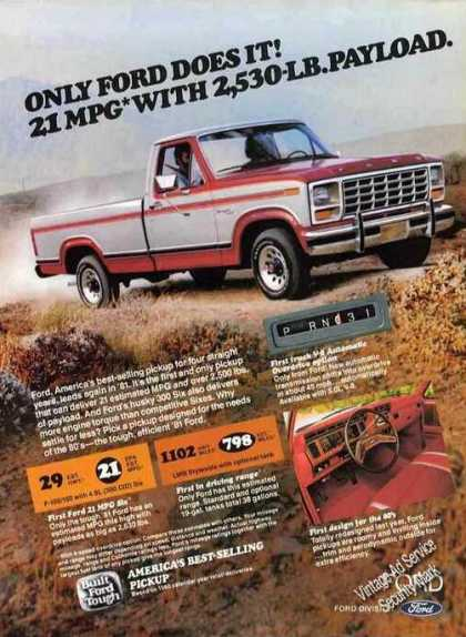 Only Ford Does It! Pickup Truck (1981)