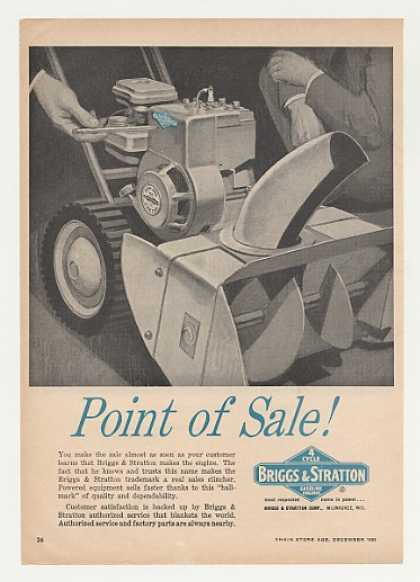 '63 Briggs & Stratton Engine Snow Blower (1963)