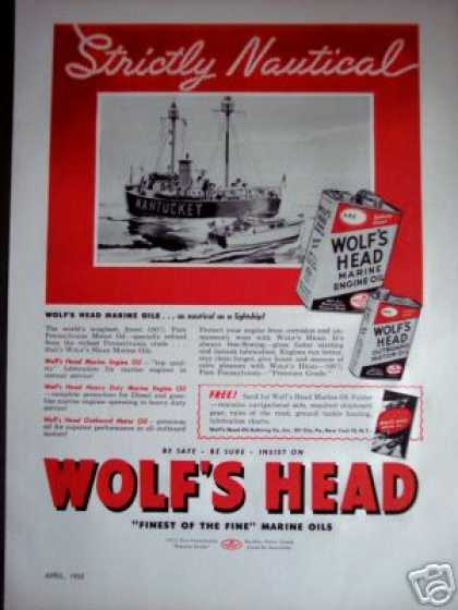 Nantucket Lightship Art Wolf's Head Marine Oil (1950)