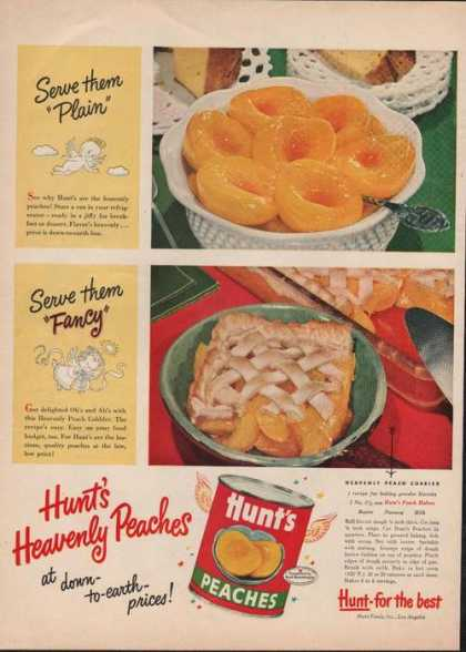 Hunts Canned Peaches (1950)