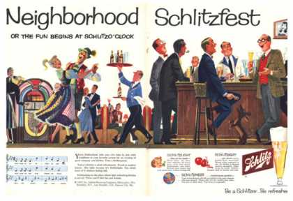 Schlitz Beer Ebel Art Bar Scene Dance (1957)