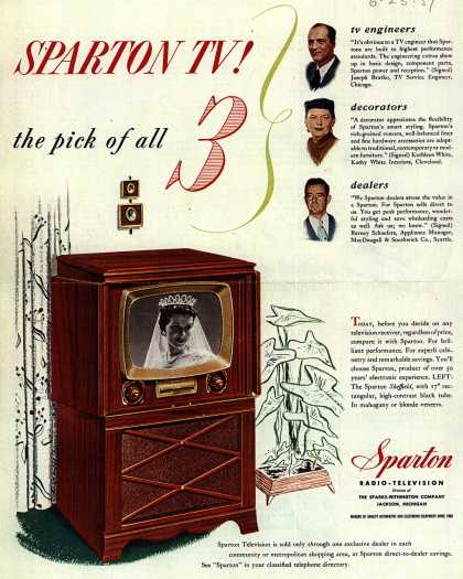 Sparton Radio-Television's Television – Sparton TV! the pick of all 3 (1951)