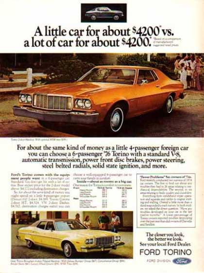 Ford Car – Ford Torino / Gold – 2 Cars (1975)