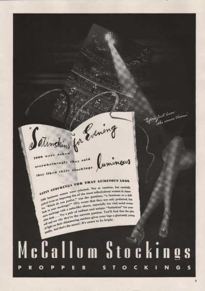 Mccallum Womens Propper Stockings (1939)