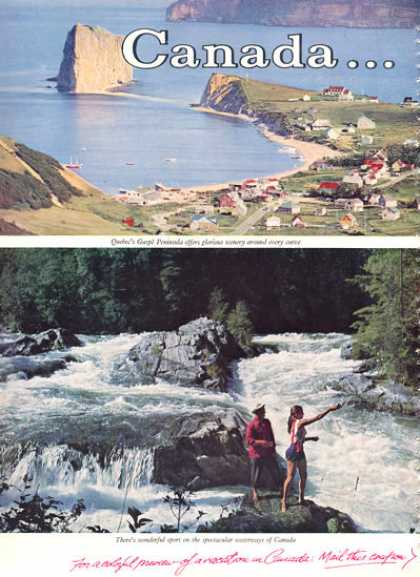 Canadian Canada Travel Quebec Fishing (1960)