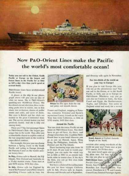 "P&o-orient Lines ""Pacific Most Comfortable"" (1961)"