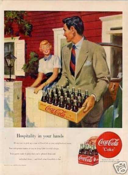 "Coca-cola Ad ""Hospitality In Your Hands... (1949)"