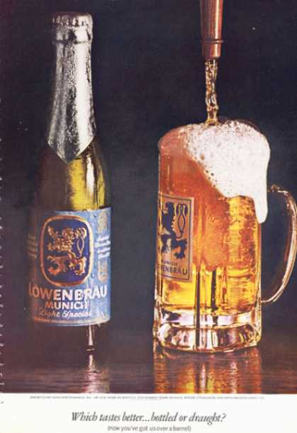 Lowenbrau Beer Bottle Glass (1966)