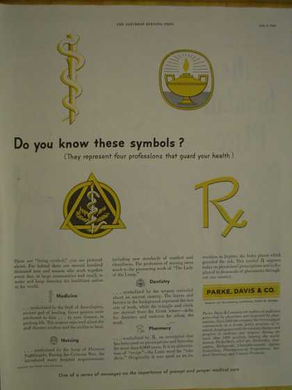 Parke Davis & Co. Do you know these symbols (1950)