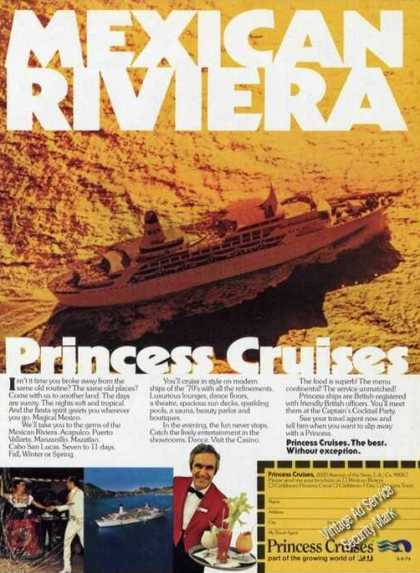 Princess Cruises Mexican Riviera Ship (1976)