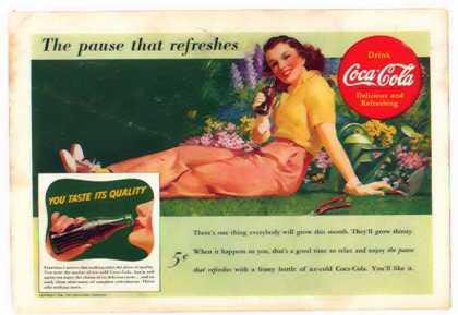 Coke &#8211; Garden Girl &#8211; The pause that refreshes (1941)