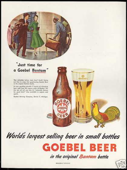 Goebel Beer Bantam Bottle Porter Rooster (1948)