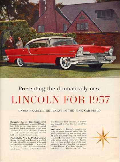 Ford Lincoln Print (1957)