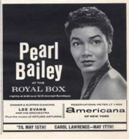 Pearl Bailey at the Royal Box (1965)