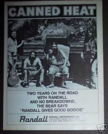 Canned Heat Band Photo Randall Instuments (1978)