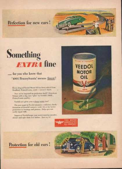 Something Extra Fine Veedol Car Motor Oil (1946)