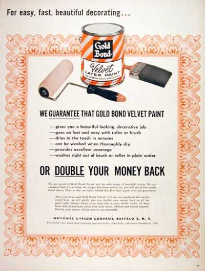 Gold Bond Latex Paint (1956)
