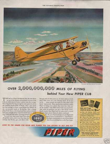 Piper Yellow Private Airplane (1946)