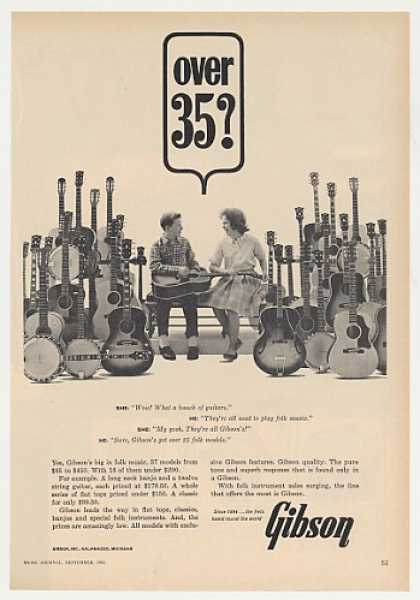 Gibson Folk Guitars 37 Model Guitar Photo (1963)