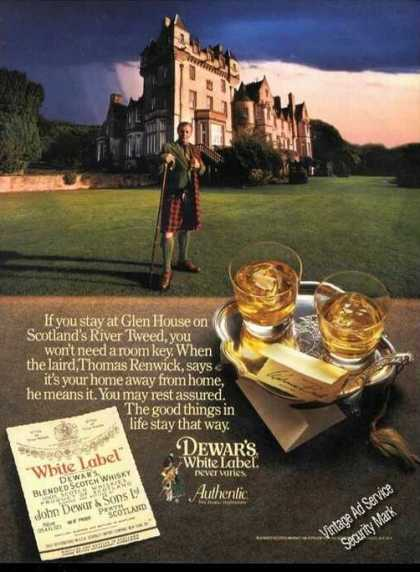 Glen House On River Tweed Dewar's Liquor Promo (1984)