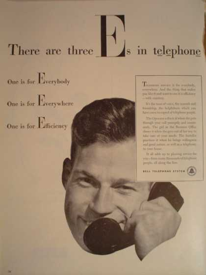 Bell Telephone Phone 3 E's (1947)