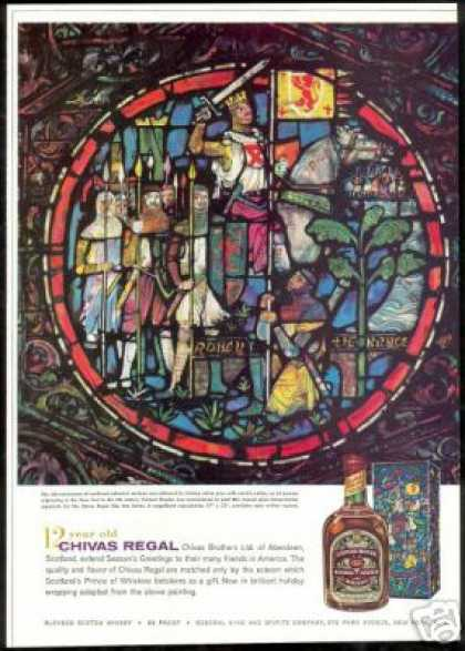 Robert the Bruce Stained Glass Chivas Regal (1959)