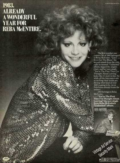 Reba Mcentire Photo Country Music Promo (1983)