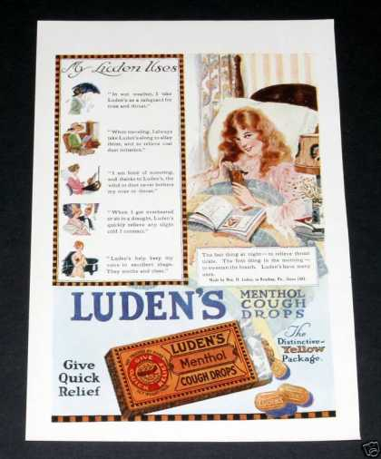 Luden&#8217;s Menthol Cough Drops (1918)