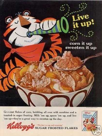 Kellogg's Sugar Frosted Flakes Cereal (1965)