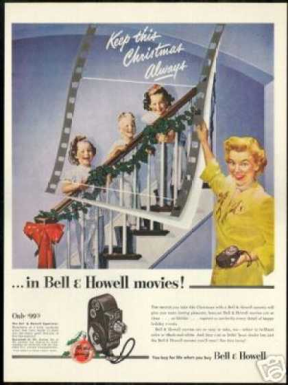 Bell & Howell Movie Camera Keep Christmas (1950)