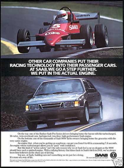 Saab 9000 Turbo & Barber Pro Race Car Coke (1988)