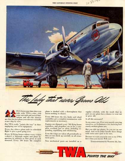 Transcontinental & Western Air – The Lady that never Grows Old (1944)