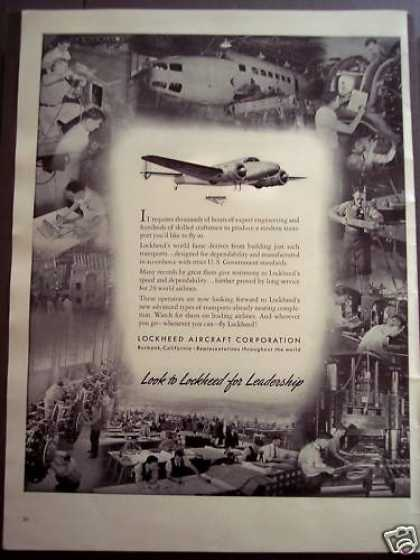Lockheed Aircraft Corp Airplanes (1939)