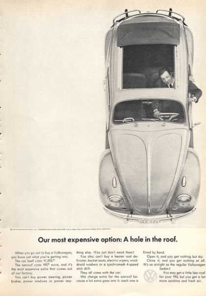 Vw Volkswagen Expensive Option Hole In Roof (1963)