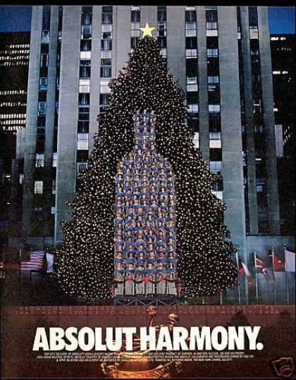 Absolut Harmony Vodka Choir Christmas Tree (1993)