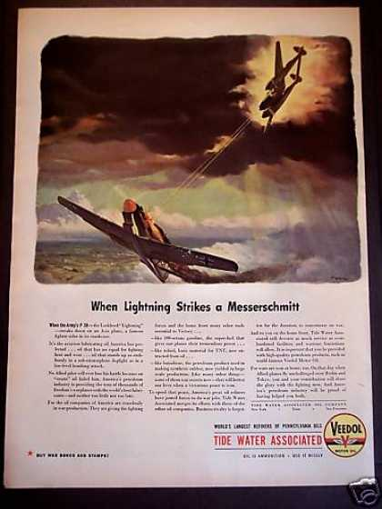 Tide Water Associates Motor Oil Military Planes (1943)