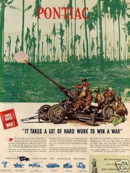 Wwii Pontiac Ad 40-mm Automatic Field Gun (1944)
