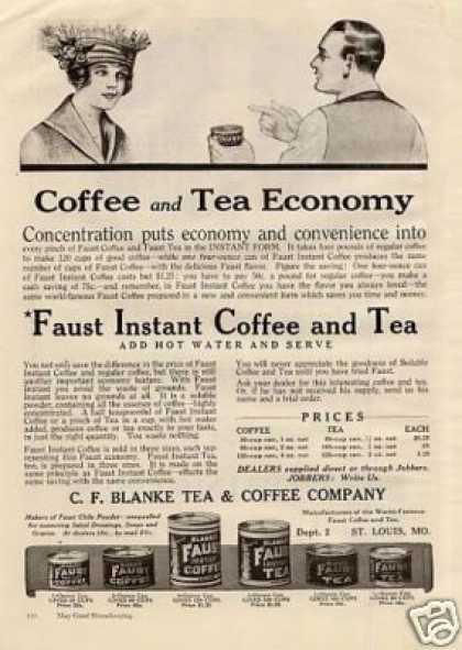Blanke Faust Coffee and Tea (1920)